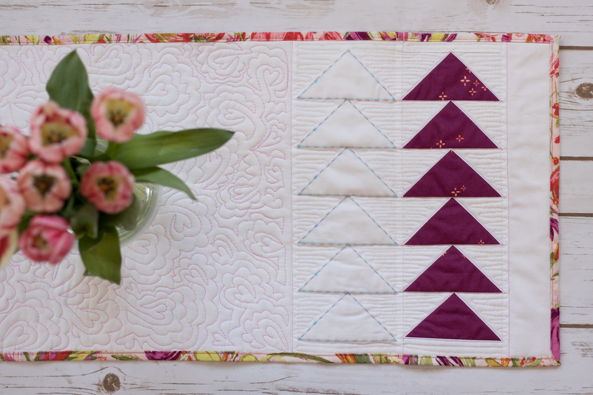 flying geese table runner tutorial cricut maker