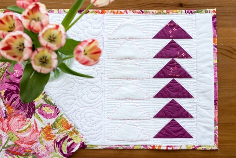 flying geese table runner cricut maker easter
