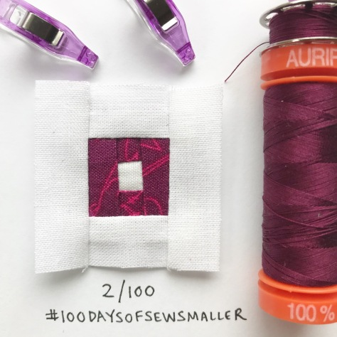 #100daysofsewsmaller tiny sewing quilting