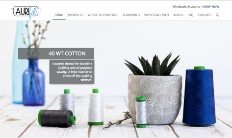 aurifil thread product photography