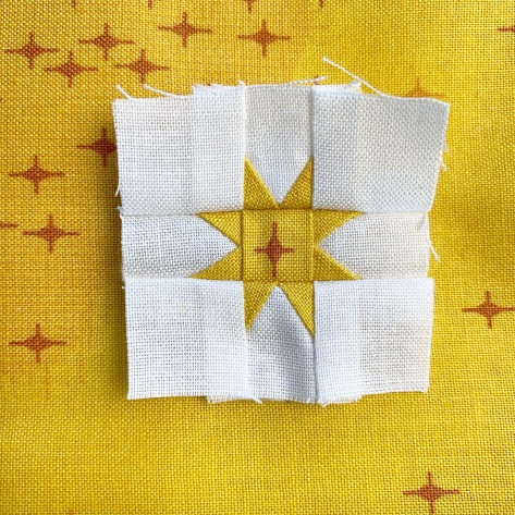 sew tiny sampler quantum fabric fussy cutting