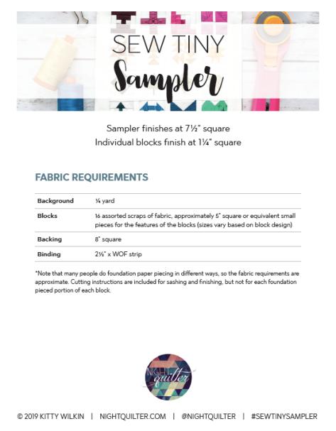sew tiny sampler pattern fpp quilting tiny
