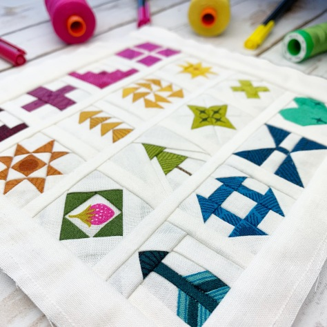 sew tiny sampler angle