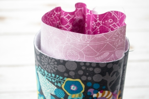 fabric skinny bin tutorial nightquilter