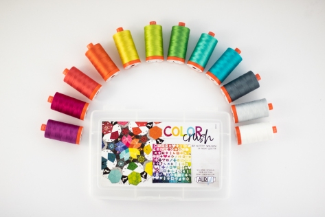 aurifil color crush thread collection nightquilter