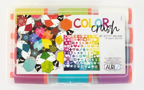 color crush aurifil thread collection cover kitty wilkin night quilter