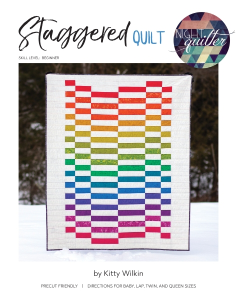 Staggered Digital cover front quilt pattern nightquilter