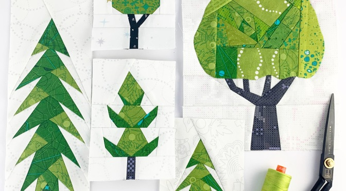 plant worry grow hope tree quilt blocks