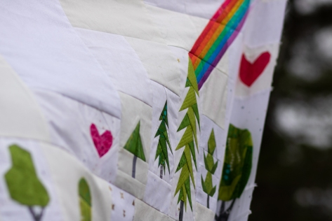 plant worry grow hope quilt