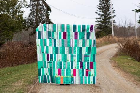 my 2020 miles running quilt